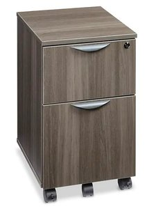 Downtown Mobile Pedestal File Cabinet Gray