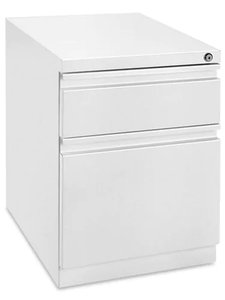 Mobile Pedestal File Cabinet 2 Drawer White