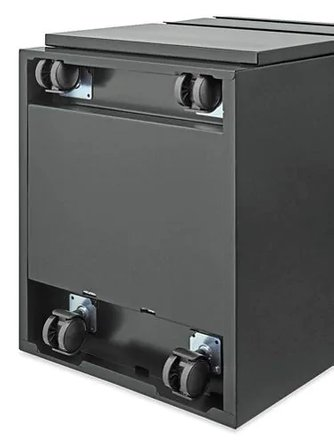 Mobile Pedestal File Cabinet 2 Drawer With Cushion Black