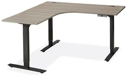 Adjustable Height L-Desk 60 x 60 Gray