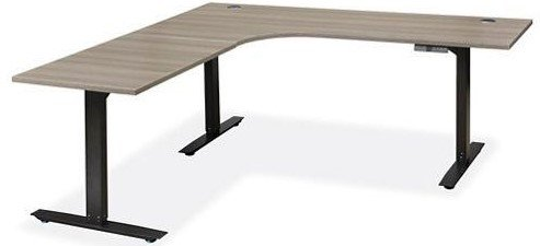 Adjustable Height L-Desk 72 x 72 Gray