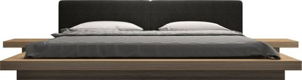 Worth Cal King Bed II Soft Carbon Fabric