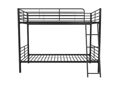 Ecker Convertible Twin over Twin Bunk Bed Black