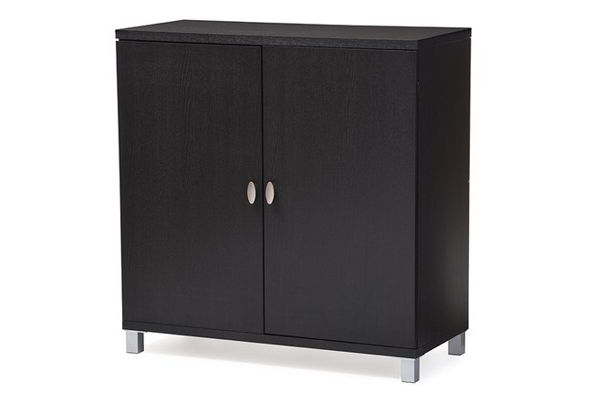 Baxton Studio Marcy Sideboard Cabinet Dark Brown