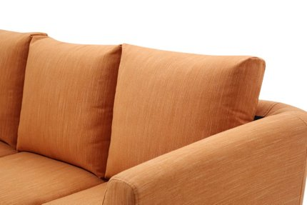 Botein Modern Compact Reversible Sectional Orange