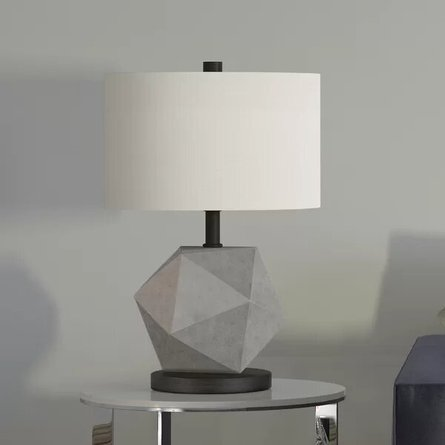 "Cleek 19.5"" Table Lamp Gray"