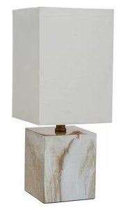 "Mosiac Accent 15"" Table Lamp Ivory"