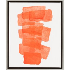 Digital Wall Decor Orange/White