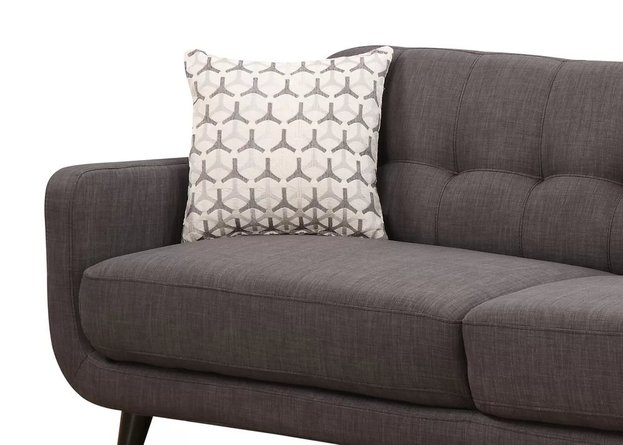 Elias Mid-Century Sofa Charcoal