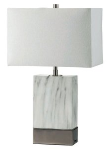 Faith Table Lamp White And Silver