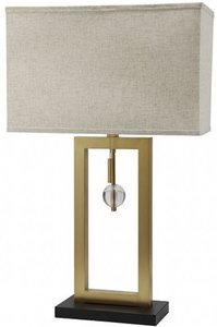Tara Table Lamp Ivory And Gold