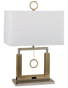 Jessica Table Lamp Brushed Steel