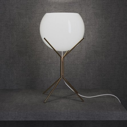 Cambridge Table Lamp White And Brass