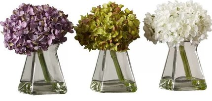 Flower Floral With Vase Multicolored  (Set of 3)