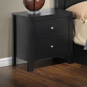 Brennen 2 Drawer Nightstand Black