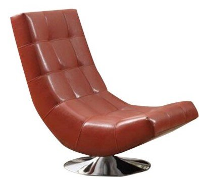 Arcturus Swivel Chair Bonded Leather Red