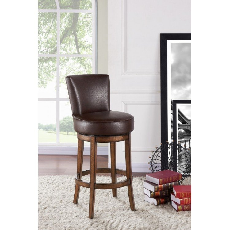 Pleasing Angetenar 26 Counter Height Swivel Wood Barstool In Sf Pabps2019 Chair Design Images Pabps2019Com