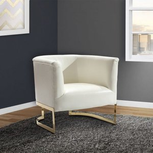 Asellus Primus Accent Chair in White