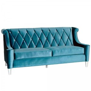 Hearthside Barrister Sofa In Blue Velvet