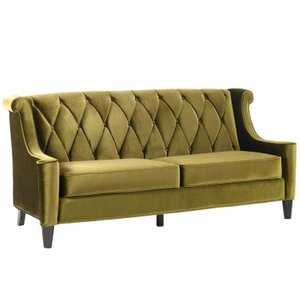 Hearthside Barrister Sofa In Green Velvet