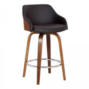 "Aquarius Contemporary 26"" Counter Height Swivel Barstool"