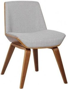 Aquila Mid-Century Side Chair Walnut And Gray