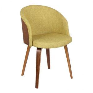 Aries Mid-Century Dining Chair Green Walnut