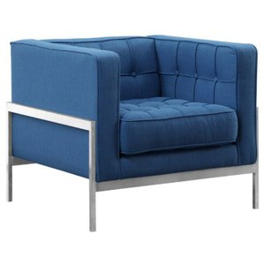 Canes Venatici Contemporary Sofa Chair Blue
