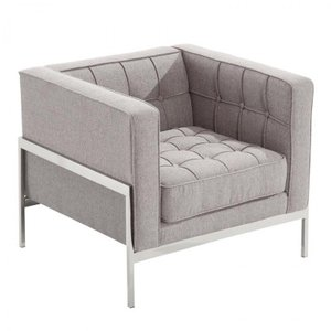 Abby Contemporary Chair Gray
