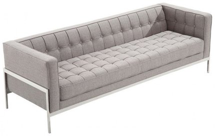 Abby Contemporary Sofa In Gray