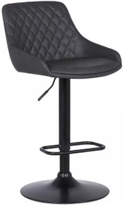 Anibal Contemporary Adjustable Barstool Black And Gray