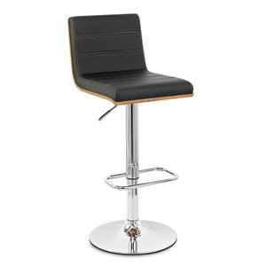 Alto Barstool Chrome Base Black