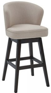 "Bertha 26"" Counter Height Barstool Tan And Espresso"