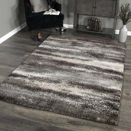 Brookfield Contemporary( 5'X8' )Area Rug In Charcoal/Beige