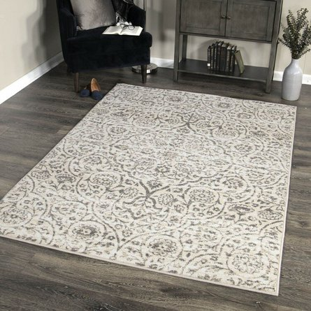 Berkeley Contemporary (8'X10') Area Rug In Cream/Gray