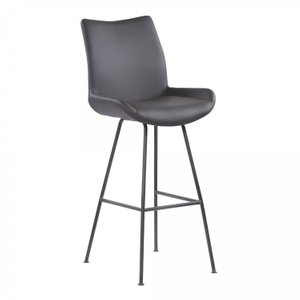 "Mekong Contemporary 30"" Counter Height Barstool Brushed Gray"