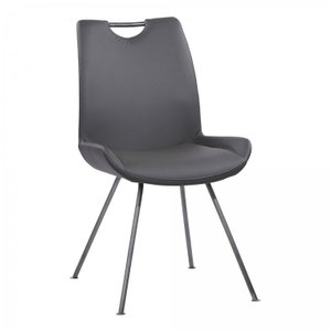 Prut Contemporary Dining Chair Gray (Set of 2)