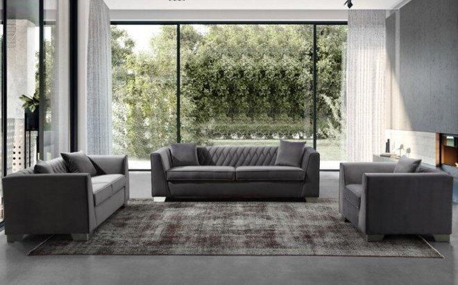 Avon Contemporary Sofa Chair Dark Gray