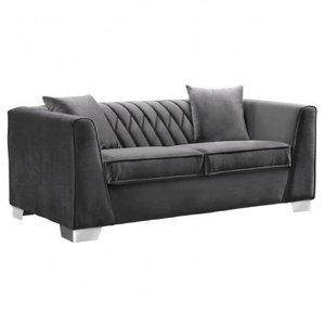 Avon Contemporary Loveseat Dark Gray