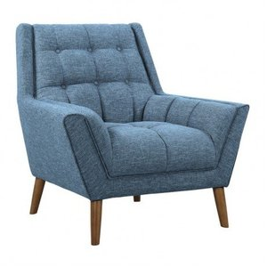 Boyne Mid-Century Modern Chair Blue