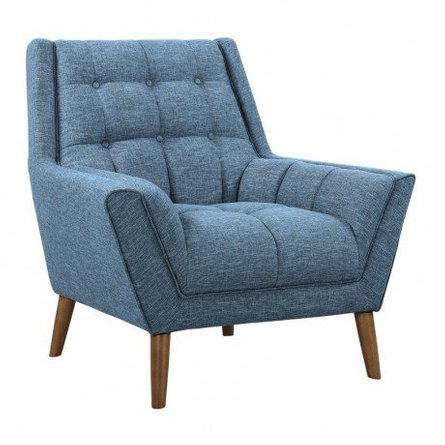Boyne Mid-Century Modern Chair Blue