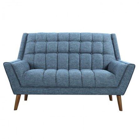 Boyne Mid-Century Modern Loveseat Blue