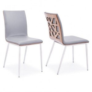Bonnie Dining Chair Gray Pu (Set of 2)
