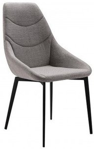 Danielle Contemporary Dining Chair Gray And Matte Black (Set of 2)