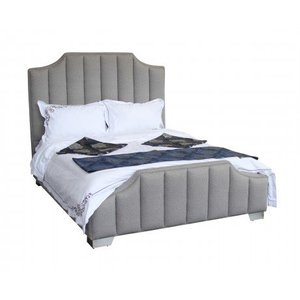 Teresa Contemporary Queen Bed Gray Sheepwool