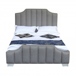 Teresa Contemporary Queen Bed Gray