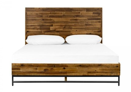 Cusco Rustic Platform Queen Bed Acacia
