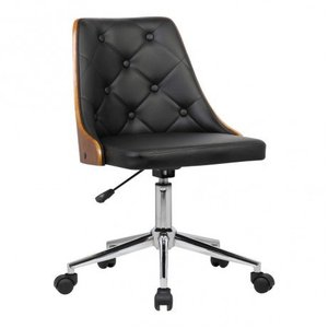 Alsuhail Mid-Century Office Chair Black