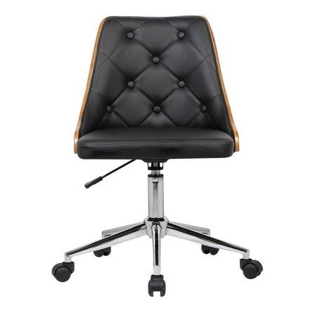 Alsuhail Mid-Century Office Chair Black