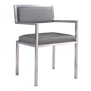 Alsciaukat Contemporary Dining Chair Gray(Set of 2)